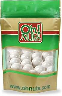White Shimmer Gumballs 4 Pound Bags - Oh! Nuts