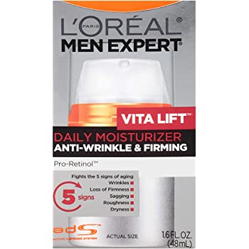 L'Oreal Paris de los hombres Expert Vita lift anti-arrugas y reafirmante de la piel facial hidratante, 1.6 oz fl