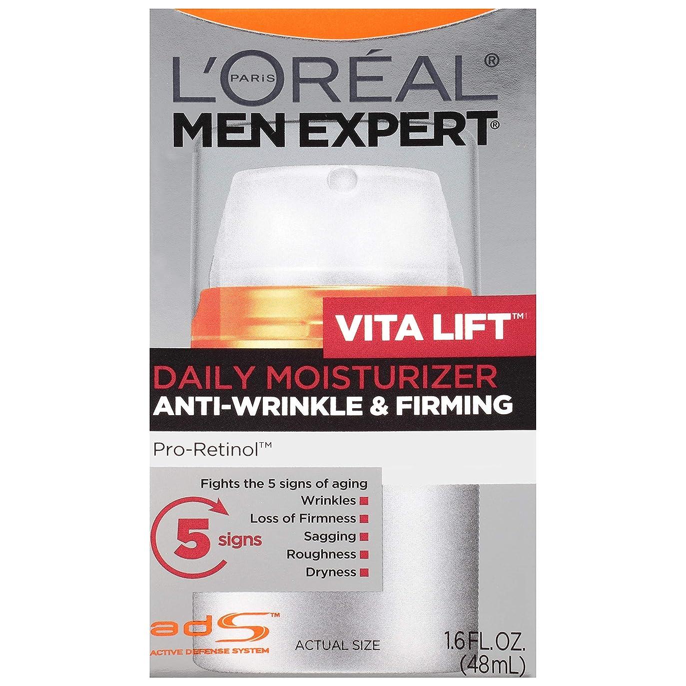 社員ジョブ薬剤師Men's Expert L'Oreal Paris Vita Lift Anti-Wrinkle & Firming Moisturizer, 1.6 Ounces