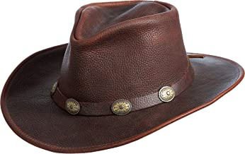 Overland Sheepskin Co Raging Bull Leather Cowboy Hat