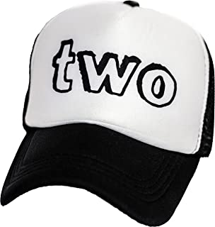 Kids Mesh 2nd B-Day Trucker Hat Baseball Cap Boys Girls Birthday Two Toddler