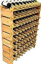 DECOMIL - 72 Bottle Stackable Modular Wine Rack Wine Storage Rack Solid Bamboo Wine Holder Display Shelves, Wobble-Free (E...