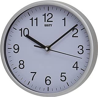 Unity Radcliffe Reloj de Pared silencioso, Plateado