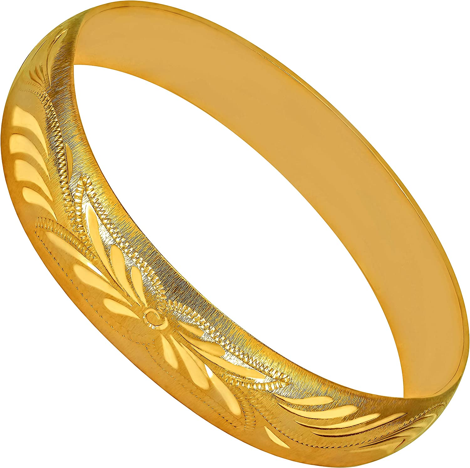 Popular popular LIFETIME JEWELRY 12mm Bangle Bracelet 24k Wholesale W Plated for Gold Real