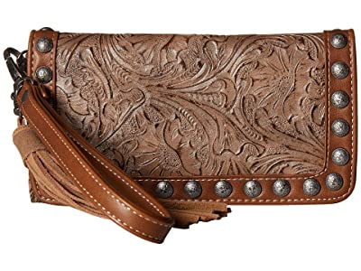 M&F Western Ariana Clutch Wallet (Brown) Handbags