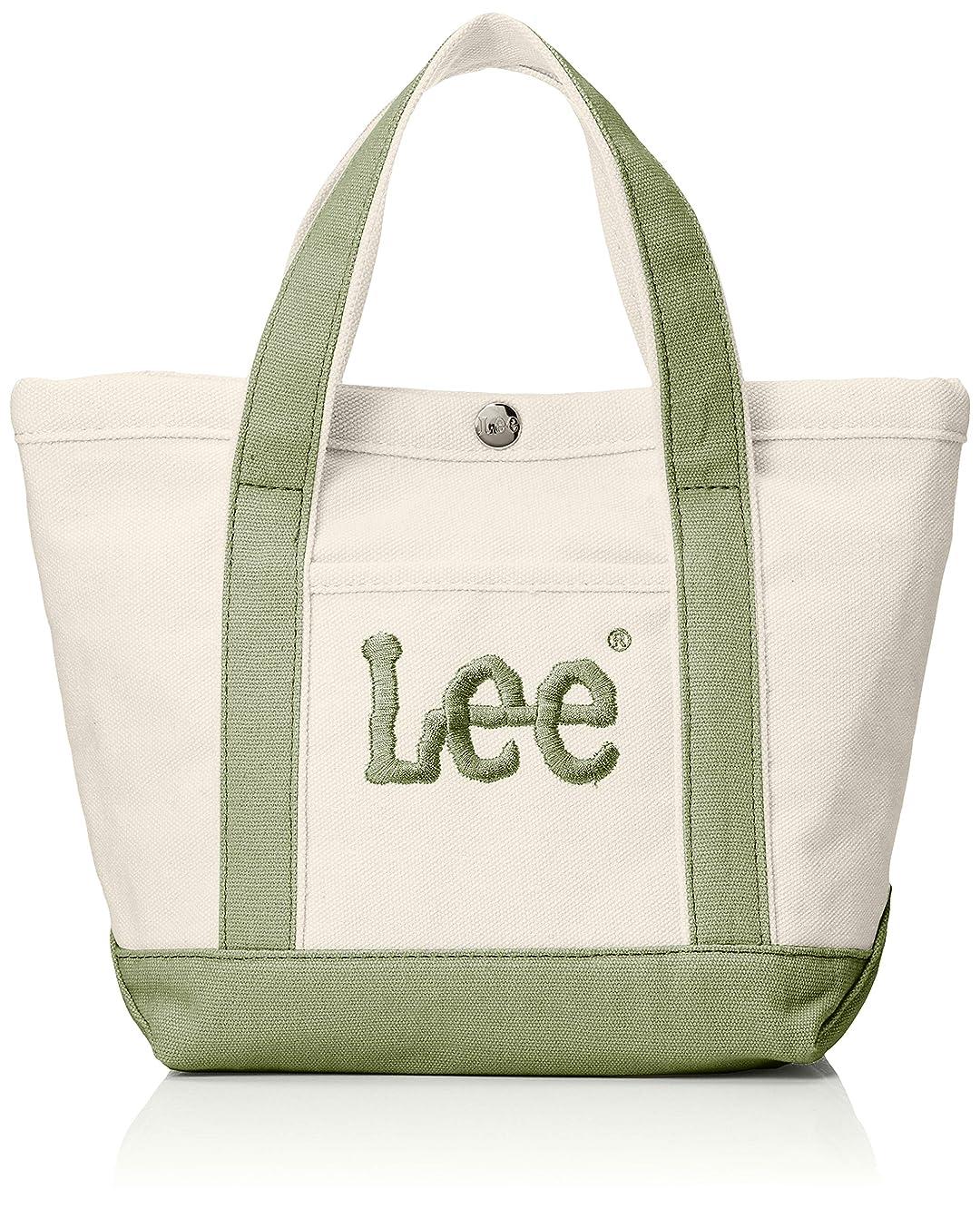 地震異常ふさわしい[リー] トートバッグ ミニ 厚手コットンキャンバス(帆布) Leeビッグロゴ刺繍