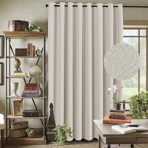 Room Darkening Linen Curtain For Sliding Door 100 W X 84 L