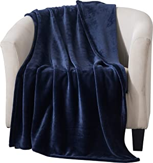 Style Basics Silky Soft Thick Plush Sofa Throw Blanket (Navy Blue, Throw 50 X 70)