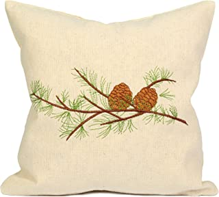 Dekobox Zillertaler - Cojín de pino cembro (100% algodón, 30 x 30 cm, hecho a mano, ayuda en trastornos del sueño y migrañas)