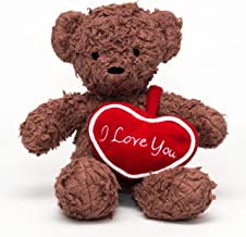 "product image for Bears For Humanity 12"" I Love You Bear, Brown"