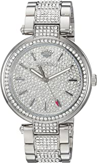 Juicy Couture Women's 'Sienna' Quartz Stainless Steel Dress Watch, Color:Silver-Toned (Model: 1901576)