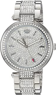 Juicy Couture Women's Sienna Quartz Watch with Stainless-Steel Strap, Silver, 18 (Model: 1901576)