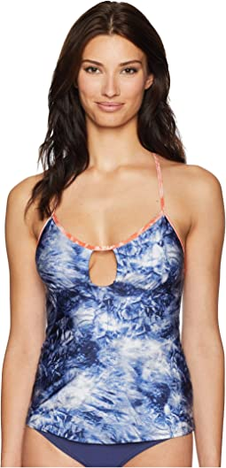 Crushed Waves Keyhole Tankini Top