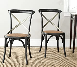 Safavieh American Homes Collection Eleanor Farmhouse X-Back Black Dining Chair (Set of 2)