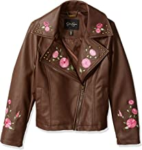 jessica simpson brown leather jacket