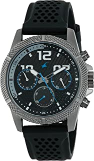 Fastrack Loopholes Black Dial Multifunction Watch for Men