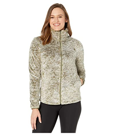 The North Face Seasonal Osito Jacket (Burnt Olive Green Marble Print) Women