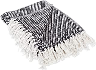 DII Transitional Woven Throw, 50×60, Black