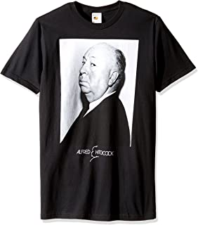 T-Line Men's Alfred Hitchcock Profile Graphic T-Shirt