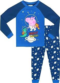 2f7c94dad George Pig Boys George Pig Glow in The Dark Pyjamas - Snuggle Fit - Ages 18