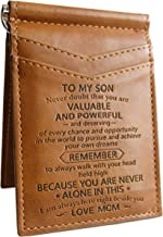 New Card Holder Card Holder Gift for Son Slim Wallet with Money Clip RFID Blocking Card Mini Bifold