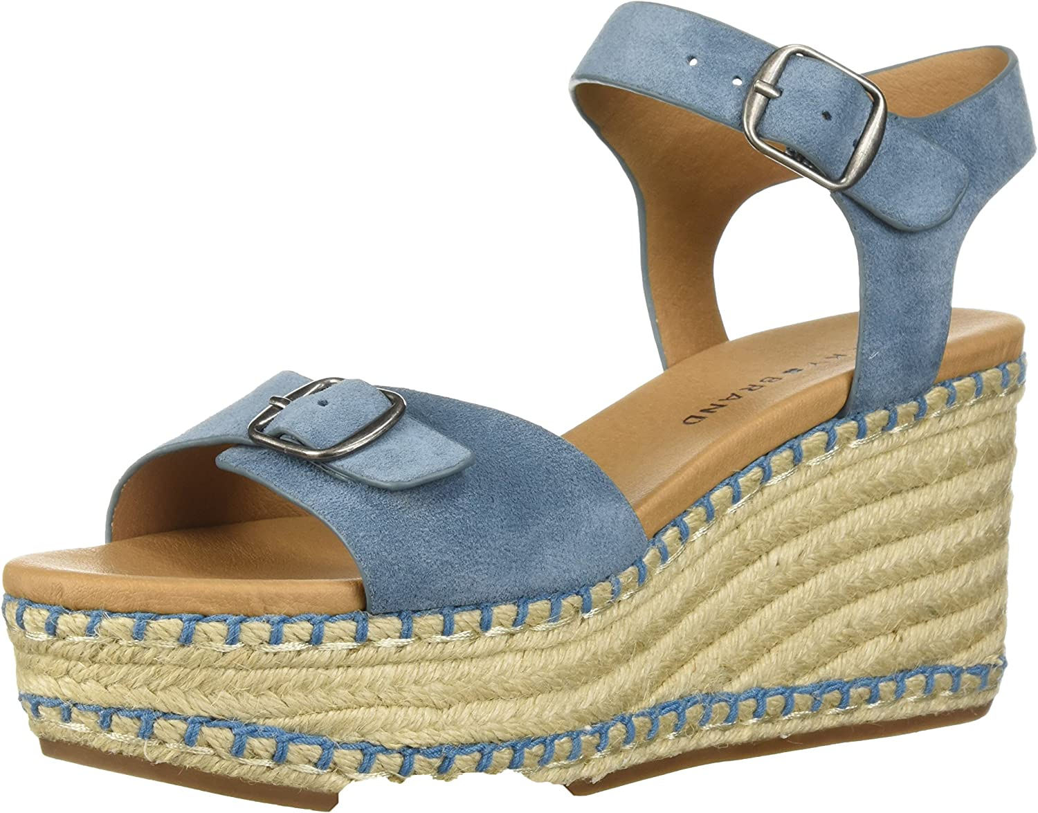 Lucky Brand Womens Naveah3 Espadrille Wedge Sandal