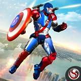super eroe combattente capitano battenti robot soldato