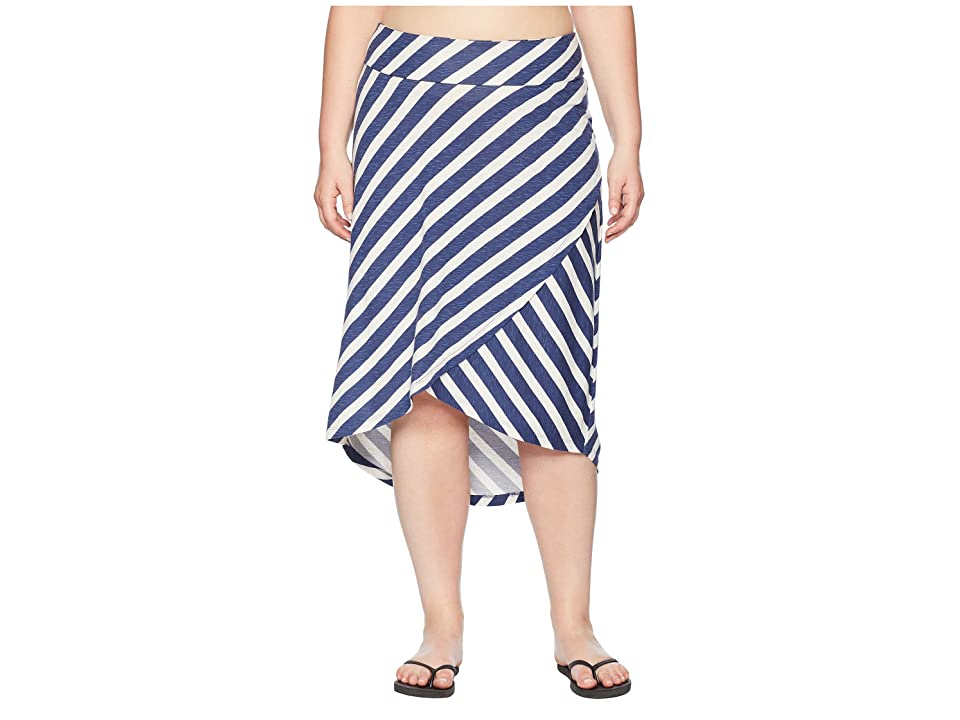 Aventura Clothing Plus Size Janessa Skirt (Blue Indigo) Women