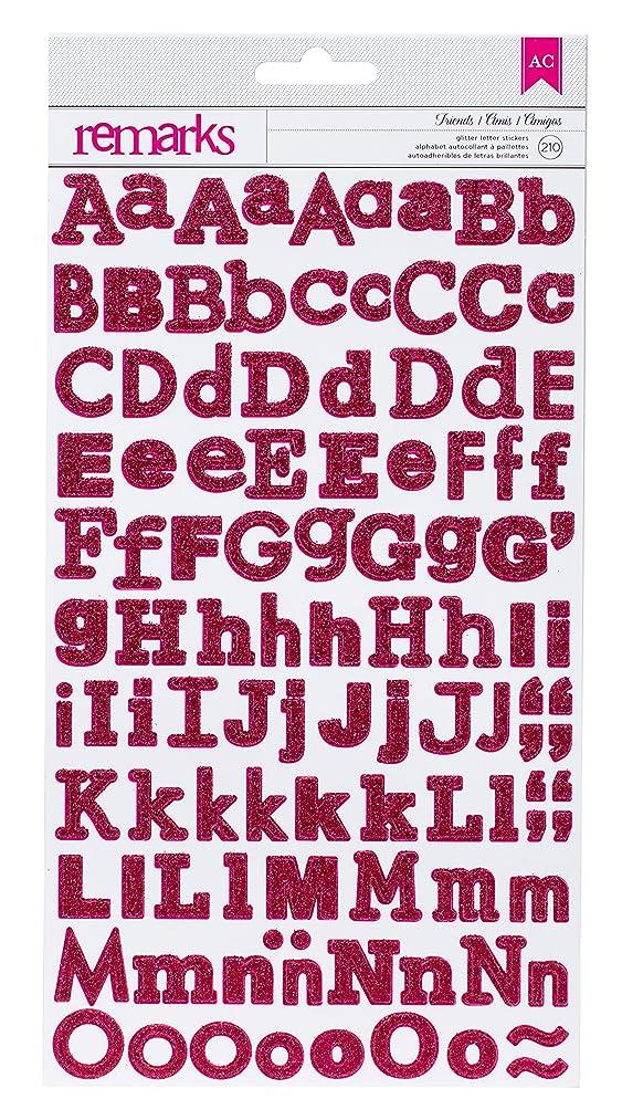 American Crafts Friends Glitter Dimensional Red Sticker