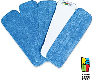 Re-Up Your Stuff Microfiber Spray Mop Replacement Heads for Wet/Dry Mops Compatible with Bona Floor Care System (5 Pack)
