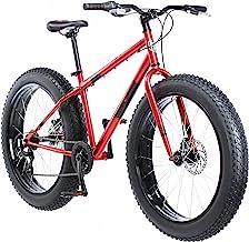 دوچرخه کوهستانی تایر مونگوز Dolomite Fat Tire ، دارای قاب فولادی با کشش 17 اینچ / متوسط ، کشش 7 سرعته Shimano Drivetrain ، ترمزهای دیسک مکانیکی ، و چرخ های 26 اینچی ، آبی روشن ، آبی روشن و قرمز