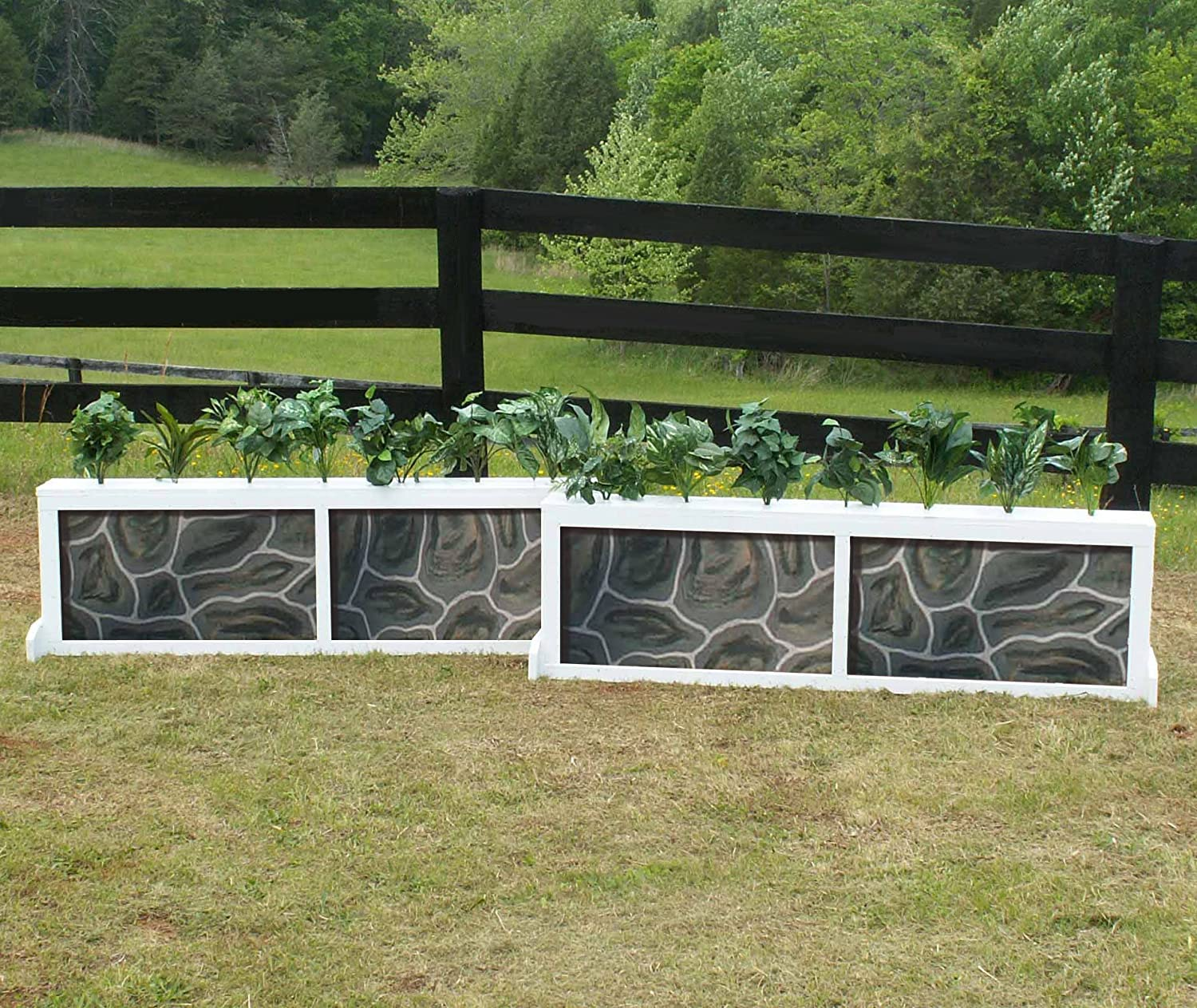 2 Ranking TOP11 Panel Brick We OFFer at cheap prices Stone Brush Horse Box Set Jumps 10ft