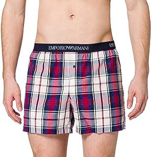 Emporio Armani Herr underkläder garn färgade vävda boxershorts