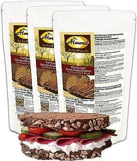 Dr. Almond Paleo Backmischung FREIBURGER SONNENBLUMENBROT low-carb glutenfrei sojafrei 1 g Kohlenhydrate auf 100 g! 3er Pack