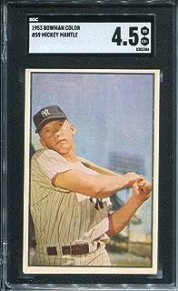 Mickey Mantle 1953 Bowman Card (SGC)