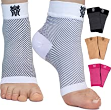 Bitly Compression Foot Sleeves for Men & Women (1 Pair) - Best Plantar Fasciitis Sleeve for Plantar Fasciitis Pain Relief, Heel Pain, and Treatment for Everyday Use with Arch Support (Large)