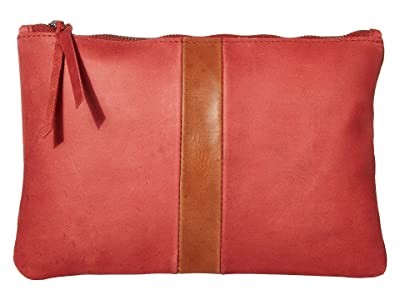 ABLE Martha Zip Pouch (Brick Red/Whiskey) Bags