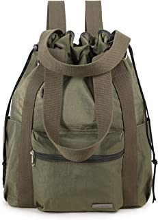 Water Repellent Convertible Multipurpose Backpack (Large, Army Green)
