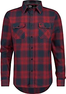 Three Sixty Six Flannel Shirt for Men - Dry Fit Long Sleeve Button Down - Moisture Wicking and Stretch Fabric Plaid Shirts