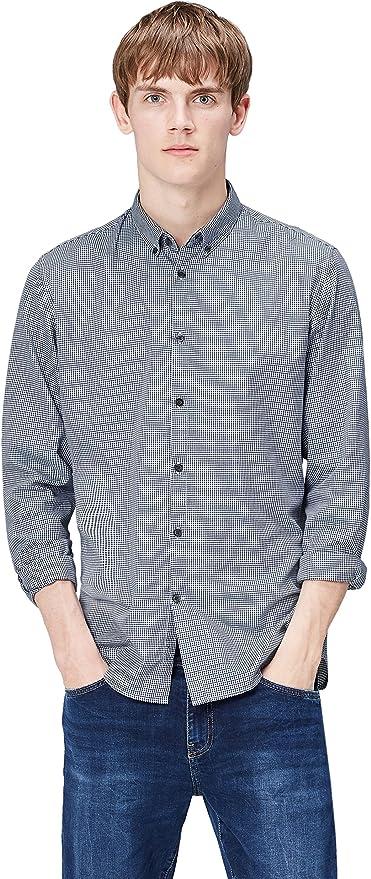 Marca Amazon - find. Camisa de Cuadros Ajustada para Hombre