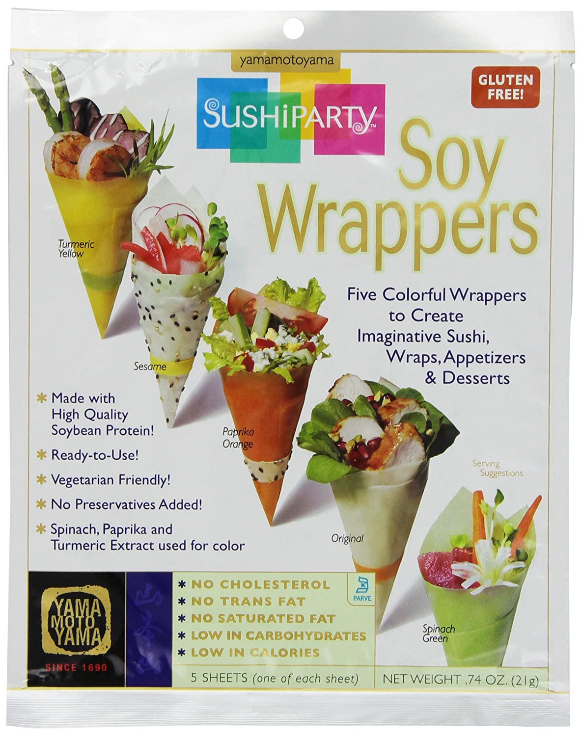 Yama Moto Max 54% It is very popular OFF Sushi Party Soy Wrappers count 5 0.74 Packages