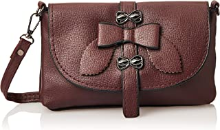 SHADOW Women's PU Leather Crossbody Sling Bag Phone Bag Mini Messenger Shoulder Travel Fashion Handbag Purse, Maroon