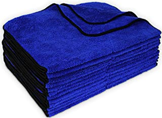 """Detailer`s Preference Premium Thick Super Absorbent Wash and Detail Microfiber Towels 450 GSM 16""""X24"""" 12 Pack"""