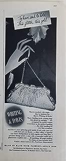 Whiting & Davis 1953 Vintage Gold Mesh Handbag Purse Ad