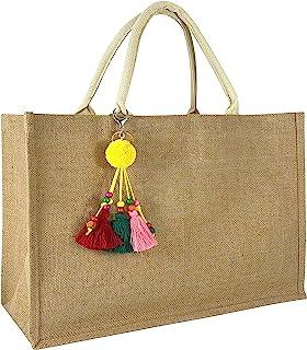 Hibala منسوجة كبيرة شاطئ حقيبة قش حقيبة شاطئ حمل اليدوية النسيج حقيبة الكتف شرابة حقيبة يد