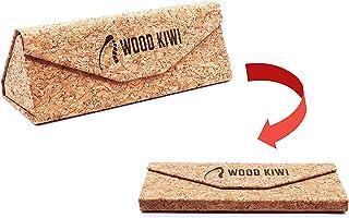 Wood Kiwi® - Custodia in sughero naturale per occhiali (egan & pieghevole)