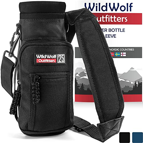 Wild Wolf Outfitters -  1 Best Water Bottle Holder for 25 oz Bottles - Carry 88ee0bae69fc5