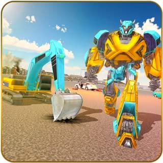 Sand Excavator Robot Transform: Robot War Game