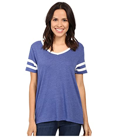 Alternative Varsity Vintage Jersey T-Shirt (Vintage Royal/White) Women