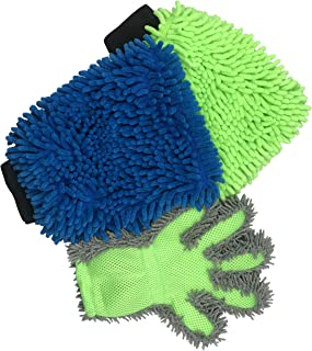 Polyte Microfiber Chenille Wash and Dust Mitt and Glove Set 3 Pack